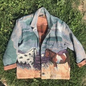 Jackets & Blazers - Tapestry style horse jacket